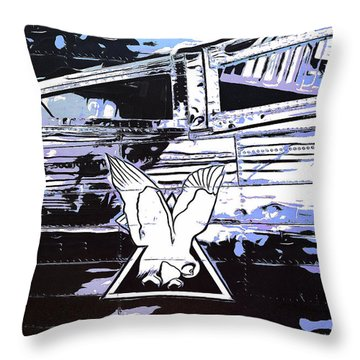 Throw Pillow featuring the mixed media Planes Of Fame by Viktor Savchenko