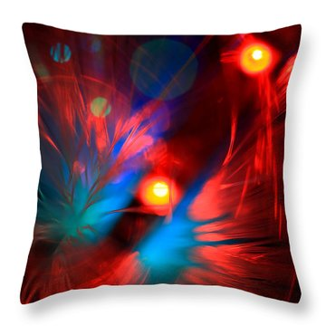 Planet Caravan Throw Pillow