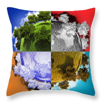Planet Earth Throw Pillow by Vitaliy Gladkiy