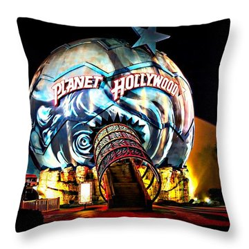 Throw Pillow featuring the photograph Planet Hollywood Myrtle Beach by Bob Pardue