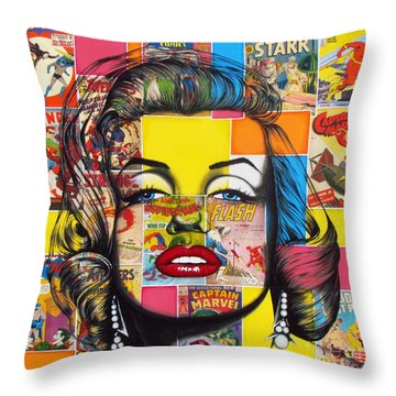 Planet Marilyn Throw Pillow by Joseph Sonday