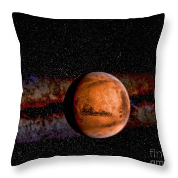 Planet - Mars - The Red Planet Throw Pillow by Paul Ward