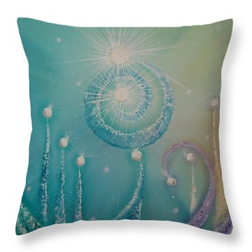 Planet Ping Pong Throw Pillow