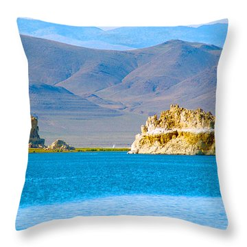 Planet Pyramid Throw Pillow
