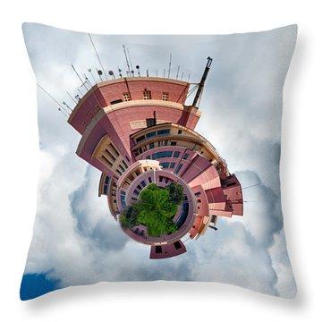 Planet Tripler Throw Pillow by Dan McManus