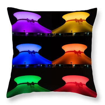 Planetarium Rainbow Throw Pillow