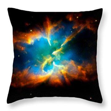 Planetary Nebula Throw Pillow by Amanda Struz
