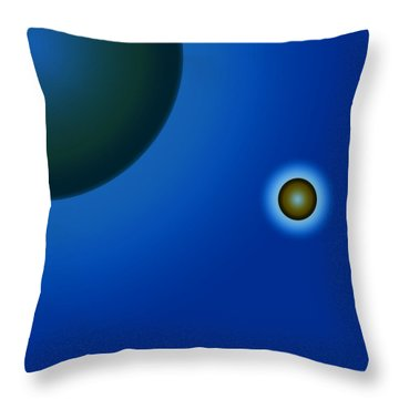 Planets Of Mercy Throw Pillow by Sir Josef - Social Critic - ART