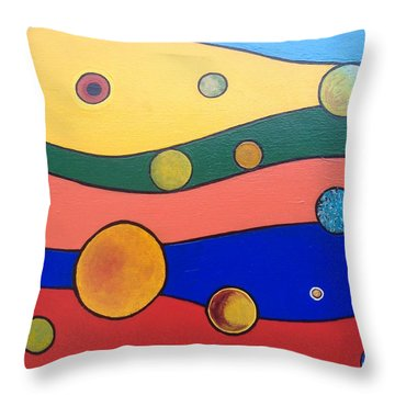Planets Throw Pillow by Steve  Hester