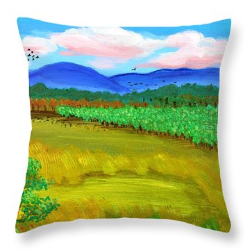 Plantation Throw Pillow by Cyril Maza