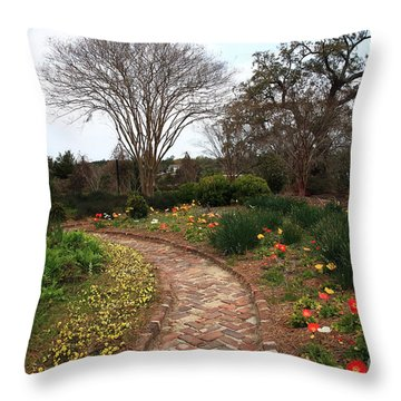 Plantation Garden Throw Pillow
