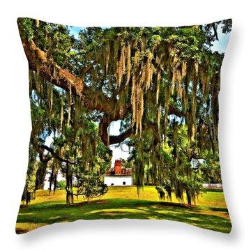Plantation Oil Throw Pillow by Steve Harrington