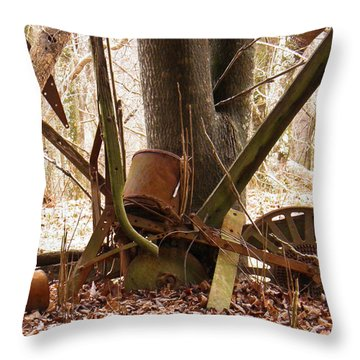 Throw Pillow featuring the photograph Planted Planter by Nick Kirby