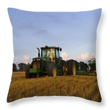 Planting Deere Throw Pillow