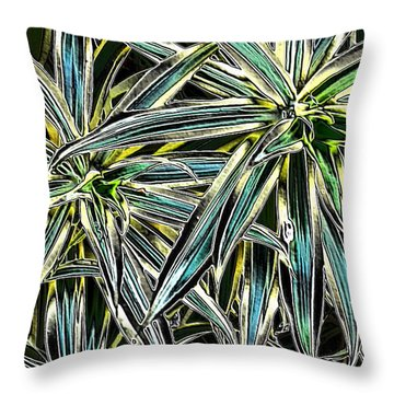 Throw Pillow featuring the photograph Plants  by Oksana Semenchenko