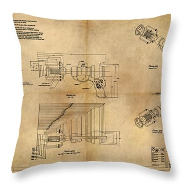 Plasma Gun Throw Pillow