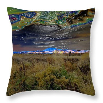 Plasma Sky Throw Pillow