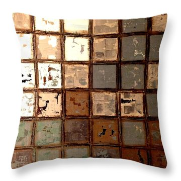 Plastered Wall Throw Pillow