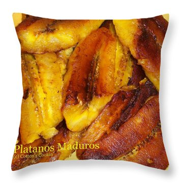 Throw Pillow featuring the photograph Platanos Maduros by Cleaster Cotton copyright