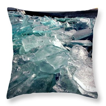 Plate Ice  Throw Pillow