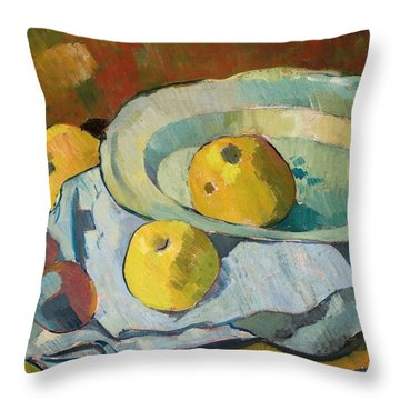 Plate Of Apples Throw Pillow by Paul Serusier