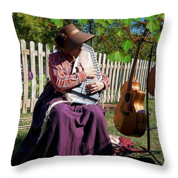 Play A Song For Me Throw Pillow by Liane Wright