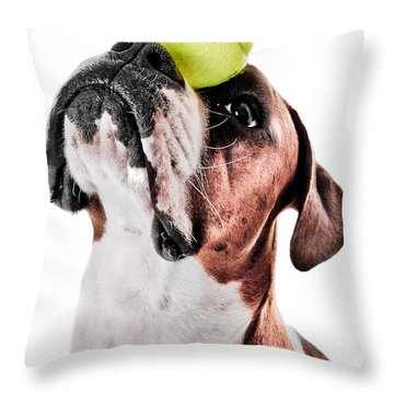 Play Ball With Me Throw Pillow by Jt PhotoDesign