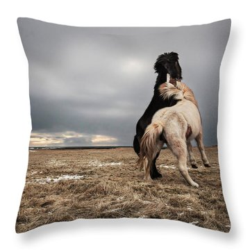 Playing Field Throw Pillows