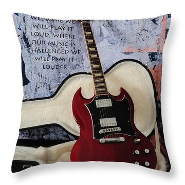 Play It Loud Throw Pillow by Randi Grace Nilsberg