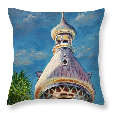 Play Of Light - University Of Tampa Throw Pillow by Roxanne Tobaison
