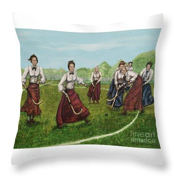 Play Of Yesterday Throw Pillow