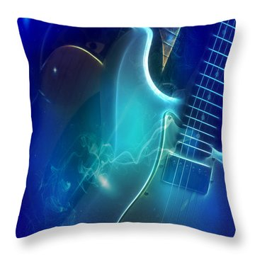 Throw Pillow featuring the photograph Play Them Blues by John Rivera