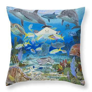 Play Time Re0018 Throw Pillow by Carey Chen