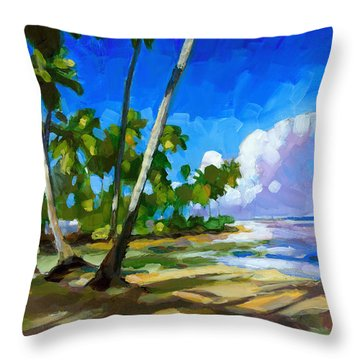 Playa Bonita Throw Pillow