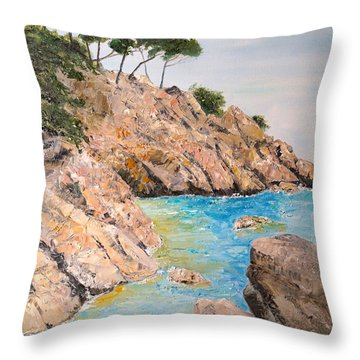 Playa De Aro Throw Pillow