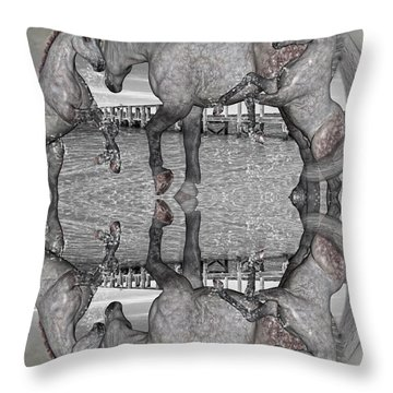 Playful Blessings Throw Pillow