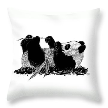 Playful Panda Throw Pillow