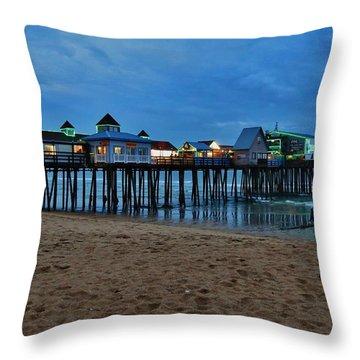 Playful Pier Throw Pillow