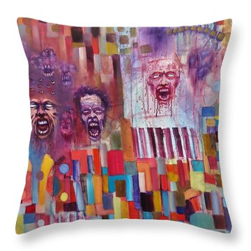 Playground Of The Undead Throw Pillow by Jason Williamson