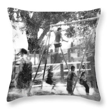 Playground Throw Pillow by Theresa Tahara