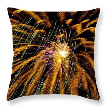 Playin With Fireworks V Throw Pillow