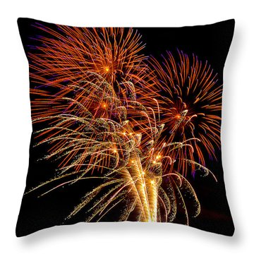 Playin With Fireworks Vi Throw Pillow