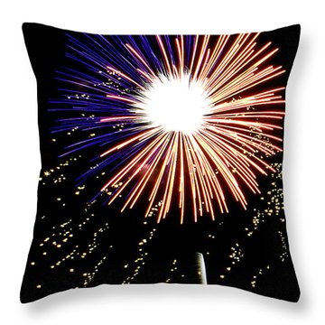 Playin With Fireworks Vii Throw Pillow