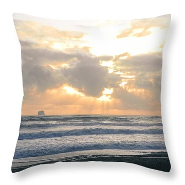 Playing At Sunset Throw Pillow