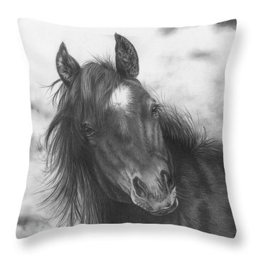 Playing Before The Storm Throw Pillow