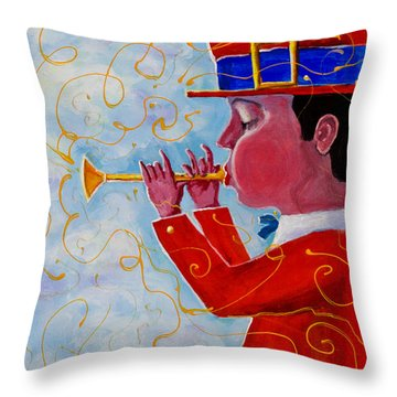 Playing For The Clouds Throw Pillow