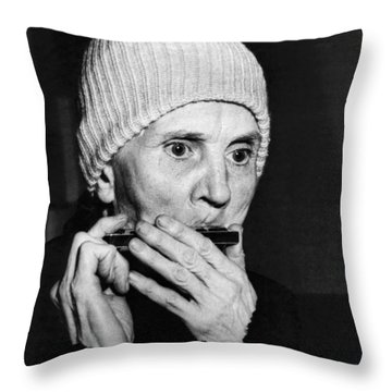Playing On The Streets For Pennies Throw Pillow by Underwood Archives