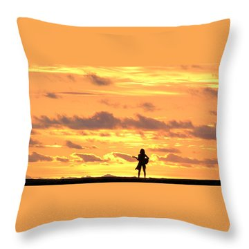 Playing To The Sun Throw Pillow