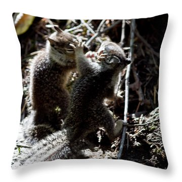 Playing U.f.c. Throw Pillow by Brian Williamson