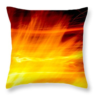 Playing With Fire 1 Throw Pillow by Cheryl McClure